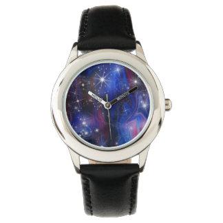 Galaxy purple beautiful night starry sky image watch