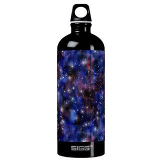 Galaxy purple beautiful night starry sky image water bottle