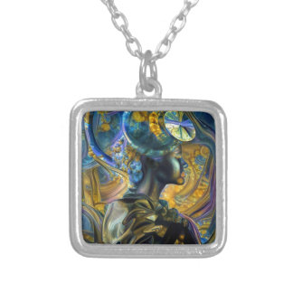 Galaxy Queen Silver Plated Necklace
