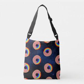 Galaxy Rainbow Donut tote bag