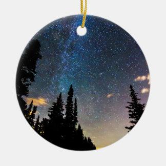 Galaxy Rising Ceramic Ornament