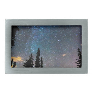 Galaxy Rising Rectangular Belt Buckle