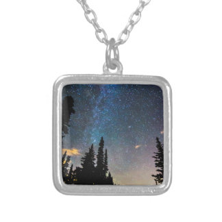 Galaxy Rising Silver Plated Necklace