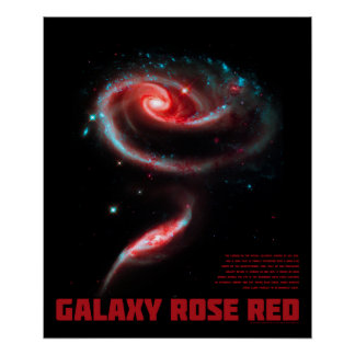 Galaxy Rose Red Poster