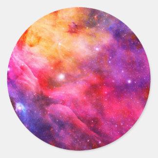 Galaxy Round Sticker