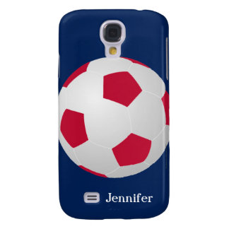 Galaxy S4 Case, Soccer Ball, Red, White, and Blue Samsung Galaxy S4 Case