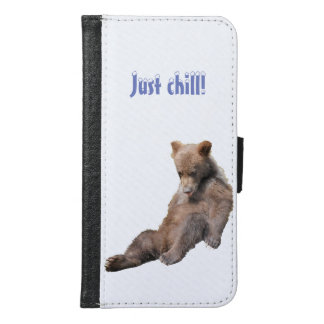 Galaxy S6 Wallet Case w/ grizzly bear cubs