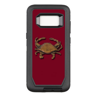 Galaxy S8 Copper Crab on Burgundy OtterBox Defender Samsung Galaxy S8 Case