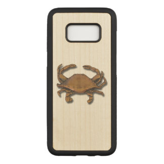 Galaxy S8 Copper Crab on Maple Carved Samsung Galaxy S8 Case