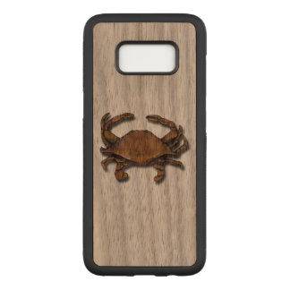 Galaxy S8 Copper Crab on Walnut Carved Samsung Galaxy S8 Case