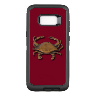 Galaxy S8 Plus Copper Crab on Burgundy OtterBox Defender Samsung Galaxy S8+ Case