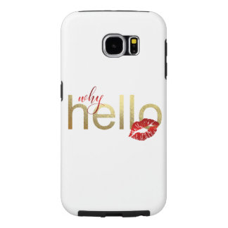 """Galaxy S """"Why Hello"""" Gold Foil Case"""