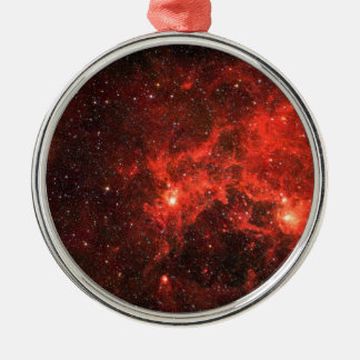 Galaxy Silver-Colored Round Decoration