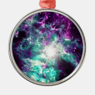 galaxy Silver-Colored round decoration