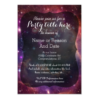 Galaxy space background all occasion party card