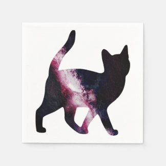 Galaxy Space Cat Paper Napkin