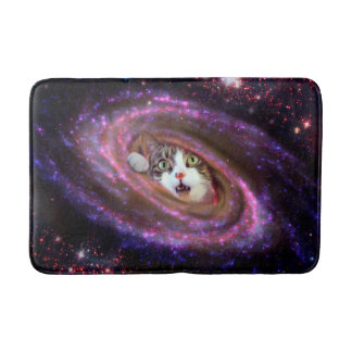Galaxy Space Cats LOL Funny Medium Bath Mat