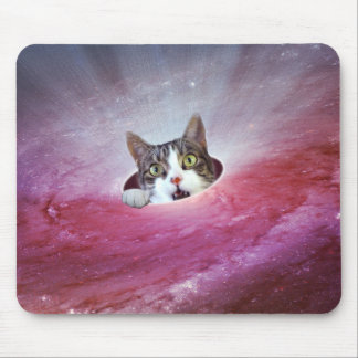Galaxy Space Cats LOL Funny Mousepad