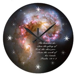 Galaxy Spacial Scripture Creation Wall Clock