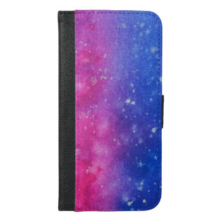 Galaxy Splatter Wallet Case