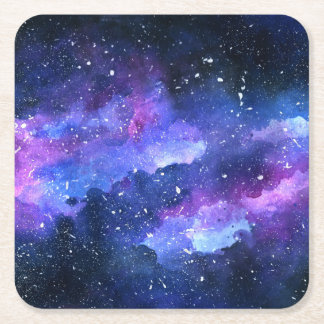 Galaxy Square Paper Coaster