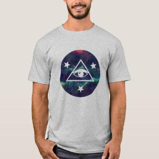 Galaxy Star All Seeing Eye Pyramid T-Shirt