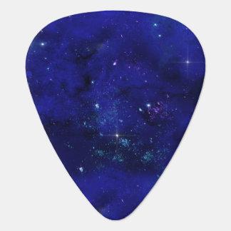 Galaxy Stars Blue Night Sky Guitar Pick