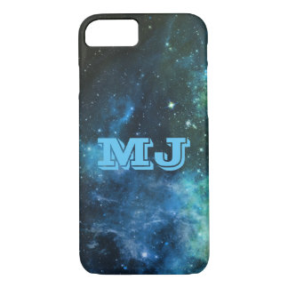 Galaxy Stars Nebula iPhone 7 Case Blue Custom Name