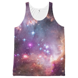 Galaxy stars nebula space hipster star photo All-Over print singlet