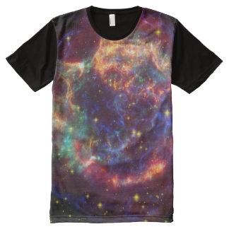 Galaxy Stars Space Nerdy Men's T-Shirt - Tee All-Over Print T-Shirt