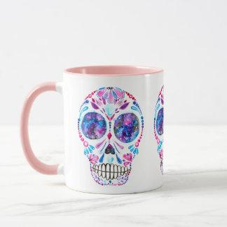 Galaxy Sugar Skull By Megaflora Design Mug