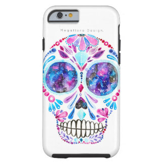 Galaxy Sugar Skull Case By Megaflora Design