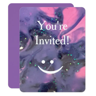 Galaxy Swirl Paint Customizable Invitations