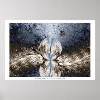 Galaxy Swirl Poster