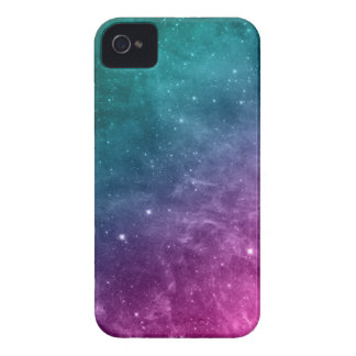 Galaxy Teal Pink Blue Nebula Stars Case-Mate iPhone 4 Cases