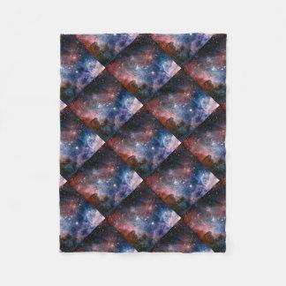 galaxy throw pillow fleece blanket