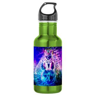 Galaxy tiger - pink tiger - 3d tiger - laser tiger 532 ml water bottle