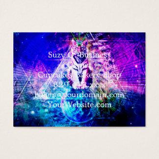 Galaxy tiger - pink tiger - 3d tiger - laser tiger business card