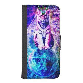 Galaxy tiger - pink tiger - 3d tiger - laser tiger iPhone SE/5/5s wallet case