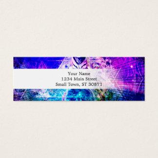 Galaxy tiger - pink tiger - 3d tiger - laser tiger mini business card