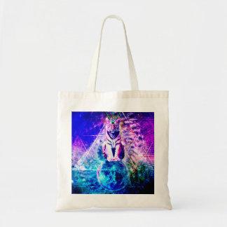 Galaxy tiger - pink tiger - 3d tiger - laser tiger tote bag