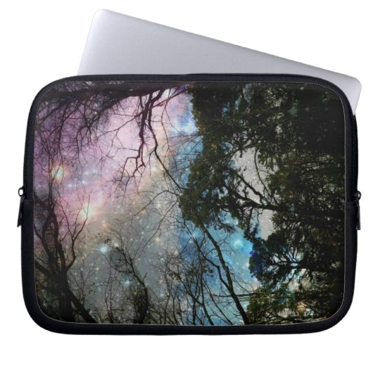 Galaxy trees laptop sleeve