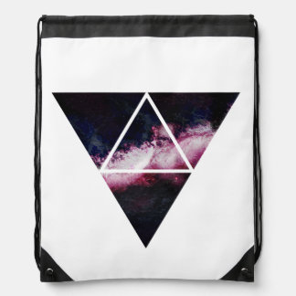 Galaxy triangle drawstring bag