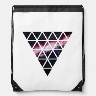 Galaxy Triangle of triangles Drawstring Bag