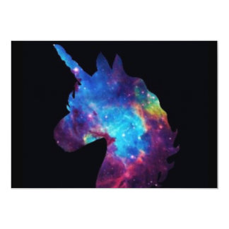 Galaxy unicorn card