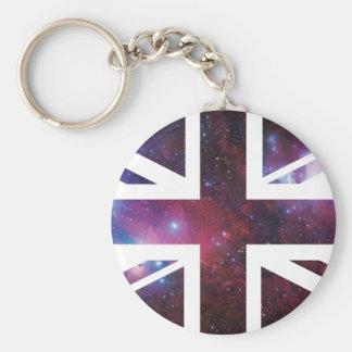Galaxy Union Jack British(UK) Flag Keychain