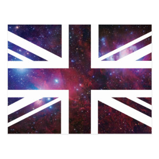Galaxy Union Jack British UK Flag Postcard