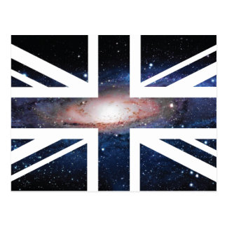 Galaxy Union Jack British(UK) Flag Postcard