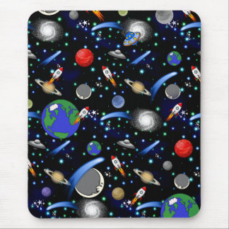 Galaxy Universe - Planets, Stars, Comets, Rockets Mouse Pad