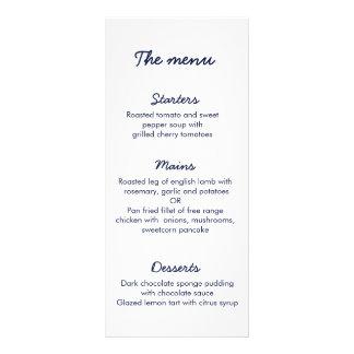 Galaxy Wedding Menu | Written in the Stars Custom Rack Card